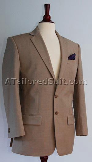 Мужской костюм из гладкой блестящей ткани