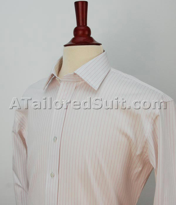 White Shirt Pink Stripes