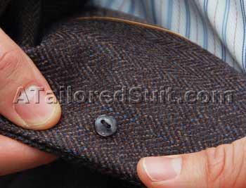 Men's Dress Shirt Backbutton