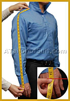 Sleeve lengths are not always based on your arm length, because shirt sleeves do not end at the same spot on your shoulder. And each person has different shoulder widths. Also, the shape of the sleeve armhole affects the shoulder measurement which affects the sleeve measurement.