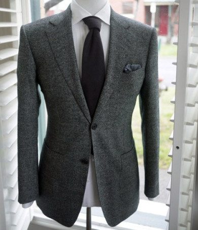 Men's Charcoal Gray Suit Article - How to wear a custom bespoke