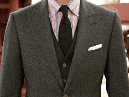 Men's Charcoal Gray Suit Article - How to wear a custom bespoke ...