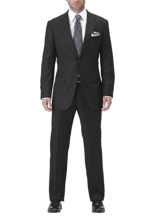 Men's Black Suit Article - How to wear a custom bespoke black mens ...