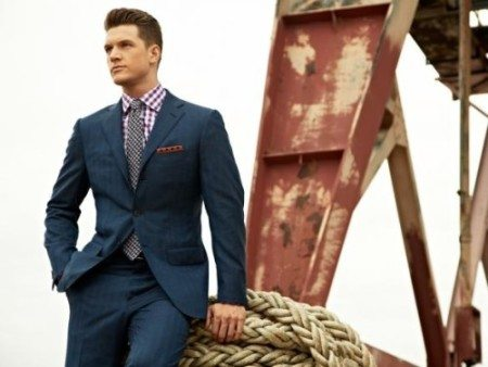 Men's Navy Blue Suit Article - How to wear a custom bespoke navy ...