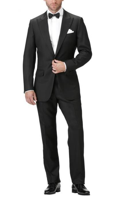 Men's Black Suit Article - How to wear a custom bespoke black mens