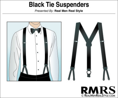 Black Tie Suspenders