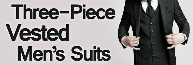 Men's Suits -Three Piece Vested Men's Suits