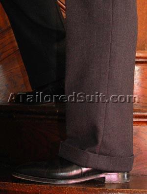 Окантовка и длина манжетов мужских брюк