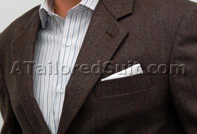 Мужской носовой платок - способо складлывания квадратом