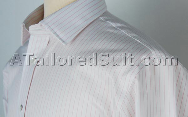 White custom shirt pink stripes