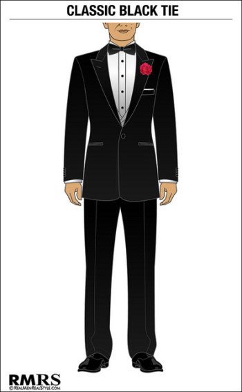 Understanding Black Tie Mens Tuxedo And Formalwear Black Tie