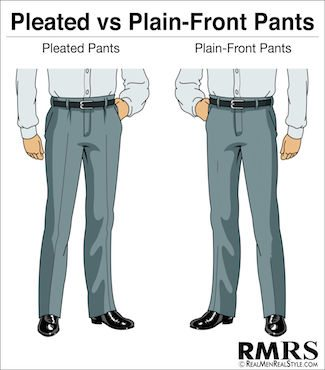 Pleated vs Plain-Front Pants Infographic